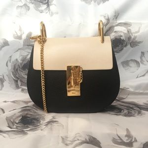 Chloe Mini Drew Crossbody Black Powder Beige